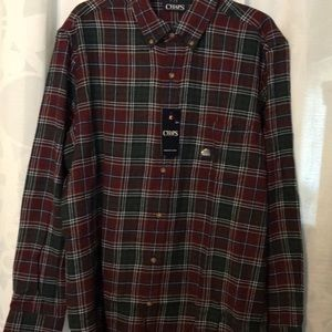 NWT Chaps brushes LS flannel size Large